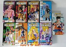 Dragon Ball Z Goku SSJ4 Gegeta Vegeta Real works figure 9 set lot statue BANDAI