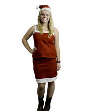 Mrs Santa Claus Christmas Costume Outfit Dress Up Set with Skirt, Tank Top & Hat