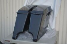 Extended Hard Saddlebags 4 Inch Stretched Unpainted w/ Lids for Harley Davidson
