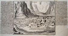 Glarus Glaris  Schweiz echter alter  Bodenehr Kupferstich 1720