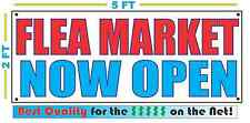 FLEA MARKET NOW OPEN Banner Sign NEW Larger Size Best Quality for the $$$