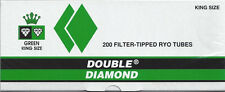 Double Diamond Green (Menthol) King Size Cigarette Tubes  - Lot Of 5 Boxes