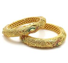 New Bridal Indian Bollywood Kara Traditional Jewellery Polki 2 Bangles Size:2.6
