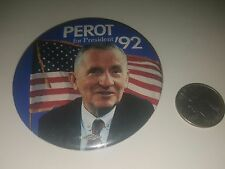 Vintage 1990s Ross Perot for President '92 Photo Pin Badge Pinback