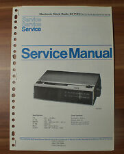 Electronic Clock-Radio SX7185 Philips Service Manual Serviceanleitung