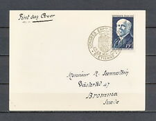 ZEAF 034 FRANCE 1950 FDC CARD Raymond Poincare CV 50 EUR
