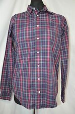 Brooks Brothers Boys Blue & Red Check Shirt Size L (age 12-13)