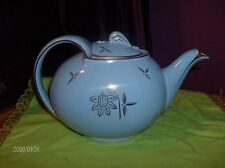 Vintage French Blue 6 Cup Aladdin Style Teapot - 1940