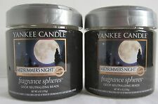 Yankee Candle Fragrance Spheres Odor Neutralizing Beads Lot 2 Midsummer's Night