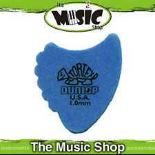 "10 x Jim Dunlop Tortex ""Shark Fins"" Guitar Picks - 1mm Blue Plectrum - Bulk"