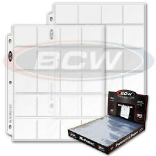 100 BCW Pro Poly 20 Pocket 3 Ring Binder Pages for 2x2 Coin Flips or Photo Slide