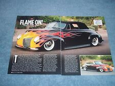 """1940 Mercury Convertible Street Rod Article """"Flame On"""""""
