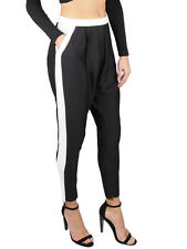 Cameo Your Side Black & White Dropped Crotch Pant Trouser S 10 NEW