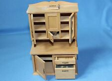 Vtg Doll House Miniature Wooden Flour Sifter Old Fashioned Cupboard Furniture