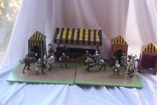 Schleich tournaments grounds and figures. 2 horses , king ,  13 knights  extra b