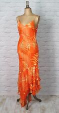 New Womens 20s Vintage Dress Evening Flapper Gadsby Sequins Beads Sheer UK 14
