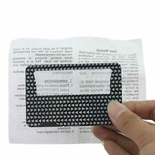 Credit Card Size LED Light 7X Magnifying Lens MAGNIFIER Reading Jewelry Loupe