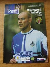 05/12/2001 Bristol Rovers v Dagenham And Redbridge [LDV Vans Trophy] (Slight Fol