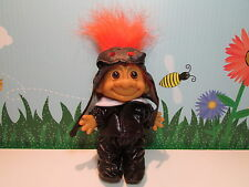 "OLD TIME PILOT / MOTORCYCLE RIDER - 5"" Russ Troll Doll - NEW IN ORIGINAL WRAPPER"