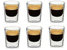 Nespresso Double Wall Coffee Glass Mug Cup After Tea Drinking Cup 6pcs