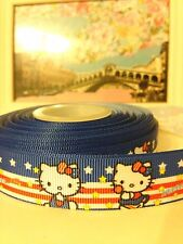 "5/6"" (22mm) Hello Kitty Grosgrain  Ribbon 2 yards Free Shipping"
