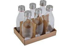 6 éléments Bouteilles en verre m Couvercle métal 250 ml de lait jus Déco Stocker