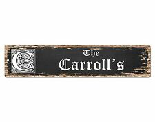 SP0802 The CARROLL'S Family name Sign Bar Store Shop Cafe Home Chic Decor