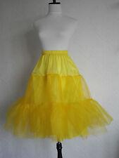 "Yellow Lady 50's Vintage 26"" Long Tutu Rock n' Roll Petticoat Retro Underskirt"