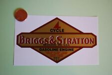 Briggs & Stratton decal old repro #49LG 1949 62 LARGE engine-decals.com