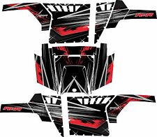 Polaris RZR 800 UTV Graphics Decal Kit 2011 2013 Liquid Silver Red Pro Armor