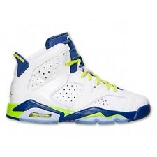 2014 Nike Air Jordan 6 VI Retro GG SZ 5Y Seatle Seahawks White 543390-108