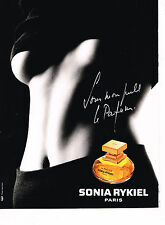 PUBLICITE ADVERTISING 035  1994  SONIA RYKIEL parfum femme D. ISSERMANN