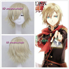 Final Fantasy Type-0 Ace Short Blonde Anime Cosplay Wig +free wig cap