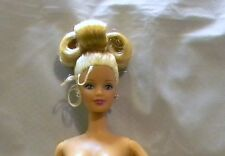 BARBIE 1998 HAPPY HOLIDAYS NUDE DOLL BLONDE UPDO HAIR