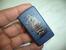 ZIPPO ACCENDINO LIGHTER A. VESPUCCCI SLIM 1626 BLU NEW VERY RARE