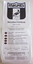 Collingwood Football Club - Barrackers' Certificate - VFL - 1970s