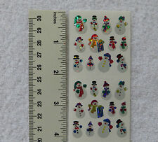 Sandylion SNOWMEN, MINI Strip of RETIRED Prism RARE Stickers OUT OF PRINT