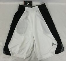 Nike Jordan MEN'S Athletic Basketball Shorts White Black Gray 820645 Size M