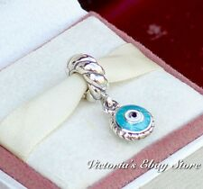 Authentic Pandora Silver Watchful Eye Mixed Enamels Dangle Charm #790529EB