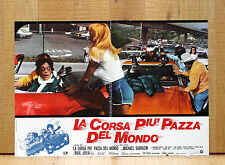 LA CORSA PIU' PAZZA DEL MONDO fotobusta poster The Gumball Rally  Car Race 1976