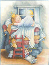Old Lanarte Cross Stitch kit Fairy Tales 22048 Princess OOP rare Out of Print.