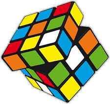 "Rubik's Cube Car Bumper Window Locker Sticker Decal 4.5""X4.5"""