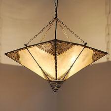 """Orientalische Lampe Hennalampe Deckenlampe Orient Henna """"Carre_Rossor"""" Natur"""