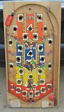 ANTIQUE OLD BALLY PINBALL MACHINE BOARD HORSE RACING GAMBLING INTERIOR DECORATE