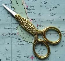 Old Gilded Style Bird Scissors For Vintage Ladies Sewing Chatelaine Accessory C