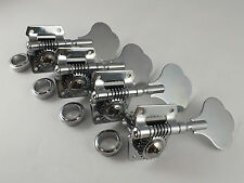 4 CHROME BASS GUITAR MACHINE HEADS Tuners for Jazz  J or Precision P Bass