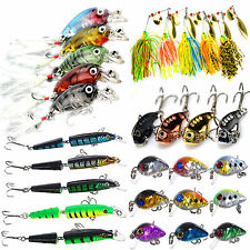 Lot 29pcs Mixed Minnow Fishing Lures Bass Crankbait Metal Tackle Lure Hard Bait