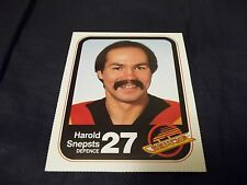 1983-84 Vancouver Canucks Team Issue #27 Harold Snepsts