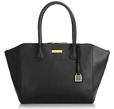 "Joy & Iman Genuine Leather ""Best Friend"" City Satchel Black Color"