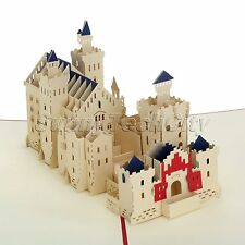 3D Pop Up Castle Greeting Cards Happy Birthday Children Father Day Thank You